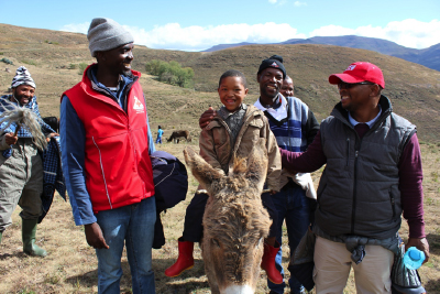 Village thanks Lesotho Red Cross in style