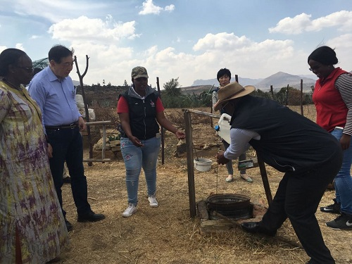 Federation of the Red Cross Chief visit Lesotho