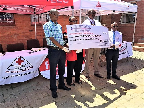 M70 000 WINDFALL FOR LESOTHO RED CROSS