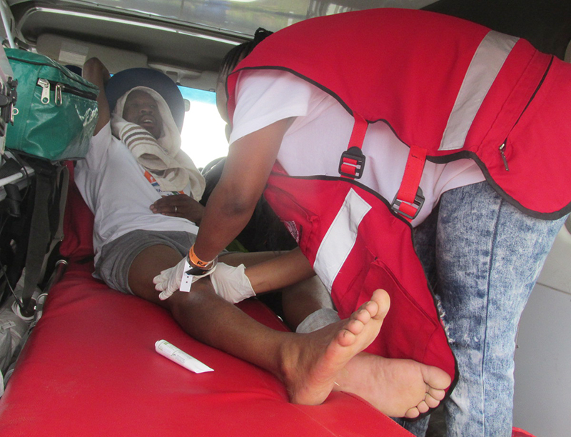Red Cross Ambulance services revealed at Moshoeshoe Walk